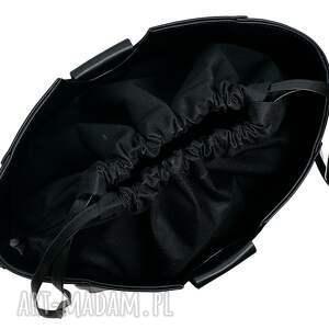 czarne do ręki torba torebka manzana z kółkiem