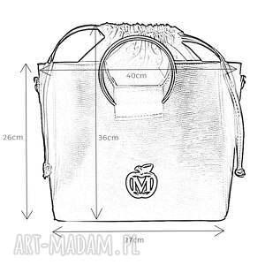 do ręki torba torebka manzana z kółkiem
