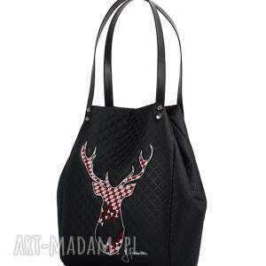 haft torebka pikowana rudolf 210 czarna