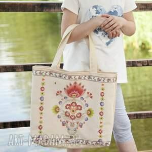 torebka torba z motywem ludowym