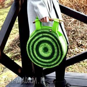 torba torebka wiosenna w zieleniach