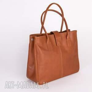 torebka do ręki ze skóry naturalnej