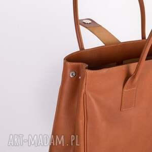 eleganckie torebka do ręki ze skóry naturalnej