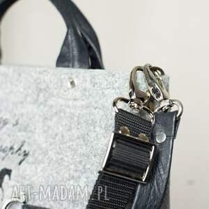 niepowtarzalne do ręki torba tote bag gallop black*