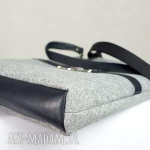 czarne do ręki torebka tote bag gallop black*