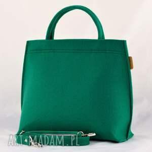 butelkowa zielony kuferek, torebka do ręki
