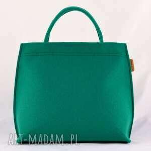 zielona zielony kuferek, torebka do ręki