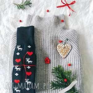 na święta upominki rajstopy ciepłe świąteczne skarpetki