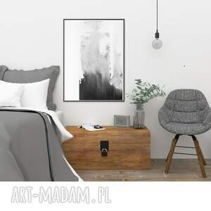 atrakcyjne dodatki malowany-ręcznie grafika czarno-biała, plakat a3