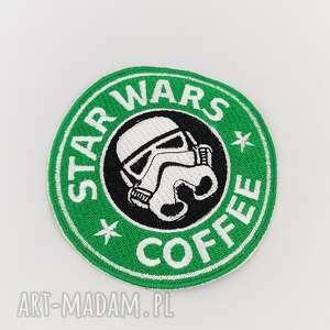 białe dodatki star naszywka coffee