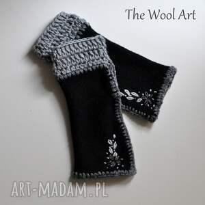 czarne dodatki rękawiczki mitenki