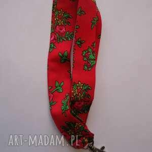 góralskie dodatki czerwone smycz folk design aneta larysa knap