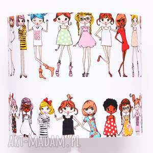 ciekawe dom abażur stylish girls 25x25x22cm
