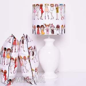 białe dom abażur stylish girls 25x25x22cm