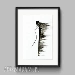 oryginalne dom minimalizm akt kobieta, grafika 30x40 cm