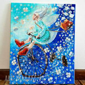 modne dom anioł na rowerze