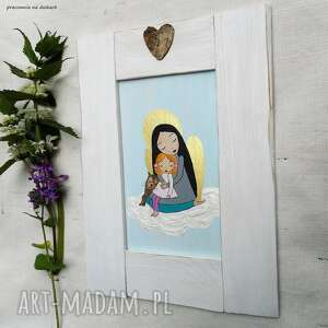 pamiątka chrztu dom białe anioł stróż