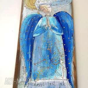 """gustowne dom anioł deseczka z sentencją """" miłość jak"""