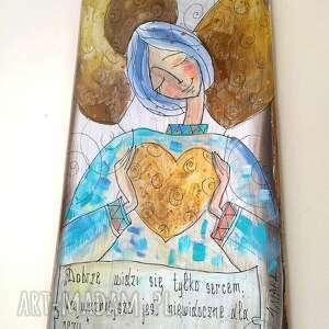 wyraziste dom anioł deseczka z sentencją nr