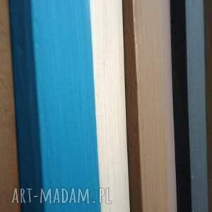 mozaika dom niebieskie drewniany obraz