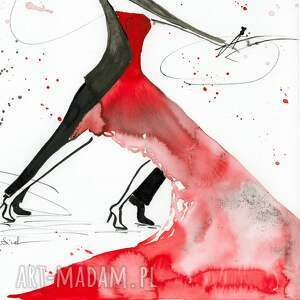 ART Krystyna Siwek grafika 30x40 cm wykonana ręcznie, abstrakcja, elegancki minimalizm, obraz grafiki do salonu