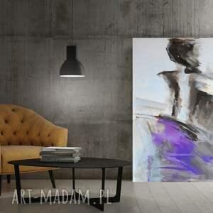 dom duży obraz do salonu lawendowa 100x70