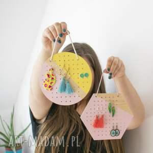 beżowe dom organizacja biżuterii mini yellow pink okrągły wiszący