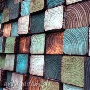 dom mozaika drewniana - na zamówienie
