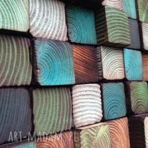 dom ozdoba mozaika drewniana - na zamówienie
