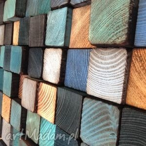 dom obraz mozaika drewniana - na zamówienie