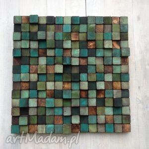 mozaika dom zielone drewniana - na zamówienie