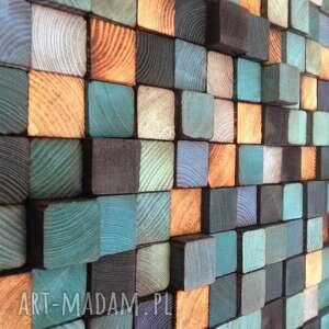 dom vintage mozaika drewniana - na zamówienie