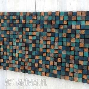 niebieskie dom obraz mozaika drewnianan na zamówienie