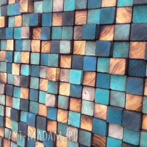 mozaika dom turkusowe drewnianan na zamówienie