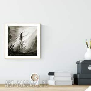 szare dom grafiki do salonu obrazek malowany ręcznie 23.3