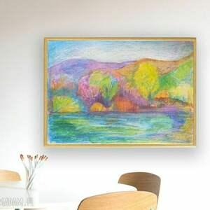 kolorowe dom jesienny oprawiony obrazek jesień, ręcznie