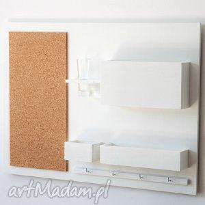 dom drewniany organizer na ścianę - 63x45 cm
