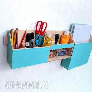 biurko dom organizer ścienny drewniany