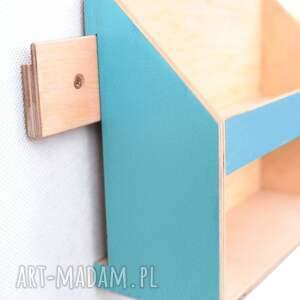 biurko organizer ścienny drewniany