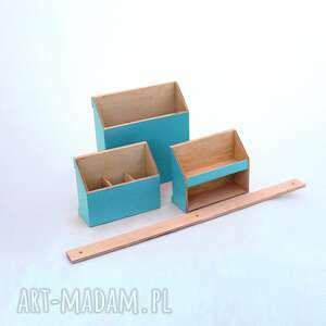 dom biurko organizer ścienny drewniany