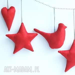 pomysł na upominek na święta ręcznie uszyte świąteczne dekoracje zawieszki