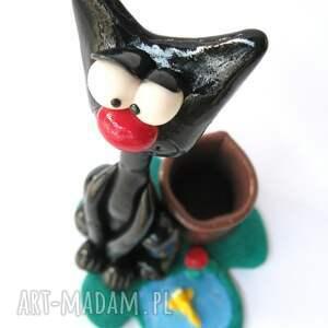 czarne dom przybornik - czarny kotek