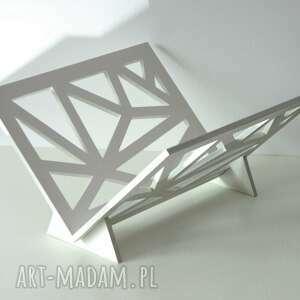 trendy dom drewniany stojak na gazety, geometryczny