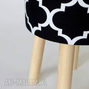 białe dom stołek fjerne m (czarna koniczyna)