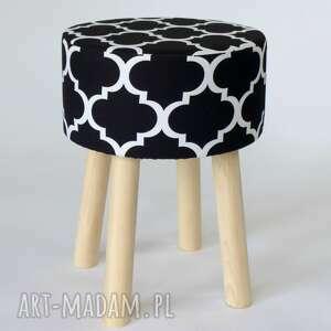 dom minimalizm stołek fjerne m (czarna koniczyna)