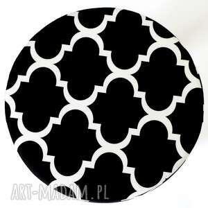 minimalizm dom stołek fjerne m (czarna koniczyna)
