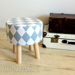 białe dom siedzisko stołek fjerne s (szare romby)