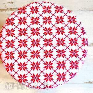 pomysł na upominek świąteczny stołek fjerne s (czerwone gwiazdki)
