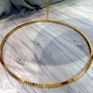 złote dom żywica epoksydowa stolik kawowy z grabu i białej