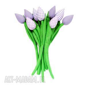 ręczne wykonanie dom tulipany - bawełniany bukiet